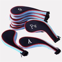 ingrosso set multicolore-Golf Push Rod Cap Embroidery Piccolo portatile Head Cover Blake Simple Multi Color Soft Club Irons Set 20yp bb