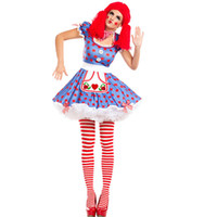 68e6a85a3 Frete Grátis Womens Harlequin Circo Mime Cirque Palhaço Bobo da corte Fancy  Dress Halloween Traje 3S1799 sexy