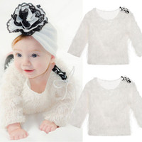 4t девочек свитера оптовых-2018 Autumn Winter Newborn Girl Baby Kid Tops Solid Long Sleeve Knit Sweaters Fashion Cute Princess Clothes Outfits 0-4T