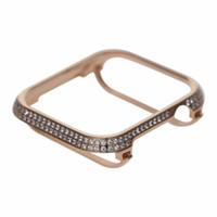 funda negra de oro rosa iphone al por mayor-Nuevo 40mm 44mm Funda protectora de lujo para Apple Watch Serie 4 chapado en oro con cubierta de diamante platino oro rosa negro