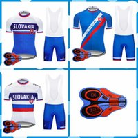 Wholesale 2018 new SLOVAKIA cycling short sleeve jersey bib shorts sets summer MTBmen bike team bicycle racing clothing outdoor sportswear J92003