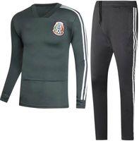 Wholesale mexican jacket - Adult jacket 2018 kits Soccer Mexican training suit 10 Giovani dos Santos 14 Javier Hernandez 18 Andres Guardado 19 PERALTA 4 MARQUEZ 11 VEL