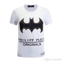Wholesale United Tees - 2018 Rock Music Europe and the United States New Style Fashion Bat printing T-shirt Men's T Shirt Cotton High Character Screen Print qp Tee