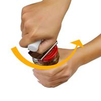 guardar latas al por mayor-Abrebotellas de tamaño libre Tapón de rosca Abrebotellas Llavero Abrebotellas de acero inoxidable ahorrado de energía Puede embotellar tapa de lata Llave abierta CCA9663 50pcs