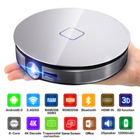 Wholesale projectors ansi lumens online - D8S ANSI Lumens DLP Projector RK3368 Octa Core GB GB Android Beamer G WIFI HD1M IN Home Video Theatre K HD