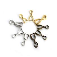 acessórios de cobre jóias venda por atacado-4 cores diy cobre handmade conexão acessórios de jóias para clipes de saco fivela pingente de colar pulseira ornamento fittings prático g948f