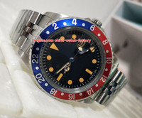 Wholesale vintage auto watch - Luxury High Quality Watch BP Factory Maker 40mm Vintage GMT 1675 Pepsi Sapphire GlassAsia 2813 Movemen Mechanical Automatic Mens Watches