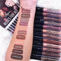 Wholesale professional lingerie - NYX lip lingerie lip cream Lip gloss Lipstick vintage long lasting 4ML Professional Makeup 12 colors