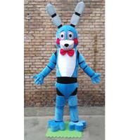 sosisli fabrikası toptan satış-2018 Fabrika satış sıcak ive Geceleri At Freddy'nin FNAF Mavi Bonnie Köpek Maskot Kostüm Fantezi Parti Elbise Cadılar Bayramı Kostümleri