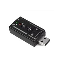 usb ses 7.1 kanal toptan satış-JP209-B CM108 Mini USB 2.0 3D Harici 7.1 Kanal Ses Sanal 12 Mbps Ses Ses Kartı Adaptörü Yüksek Kalite