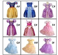 Wholesale cute party dresses online - 2018 Girls Dresses Party Princess Dresses With Cute Bow For Kids Summer Clothing colors for choose Hot