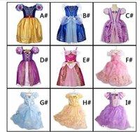 niedliches mädchen heiß großhandel-2018 Mädchen kleidet Partei-Prinzessin Dresses With Cute Bow für Farben der Kind-Sommer-Kleidungs-9 für wählen heißes freies Verschiffen