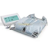 Wholesale portable pressotherapy - 2 in 1 new come Portable Air Pressure Infrared Pressotherapy Body Slimming Blanket Suana Machine