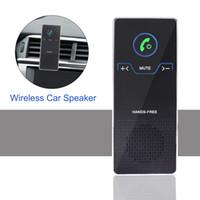 bluetooth viseira do carro venda por atacado-Alto-falante Sem Fio Do Carro Mãos Livres Bluetooth Speakerphone Set Com Ventilação de Ar E Suporte de Viseira de Sol HD Player De Áudio Estéreo Para IOS / Telefone Android