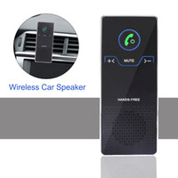 Wholesale visor hd resale online - Wireless Car Speaker Hands Free Bluetooth Speakerphone Set With Air Vent And Sun Visor Bracket HD Stereo Audio Player For IOS Android Phone