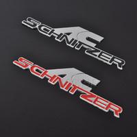 autocollants métalliques 3m achat en gros de-3D Metal AC Schnitzer voiture Logo Badge Emblème Autocollants Auto Décalque de Voiture 3M colle Pour BMW Car-Styling Autocollants Accessoires