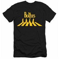 beatles yaz gömleği toptan satış-Tasarımcı Yaz Tshirt Beatles Baskılı Mens Tshirt Yeni Moda Gelgit Erkek T-shirt Kısa Kollu Şık Casual Pamuk Tops