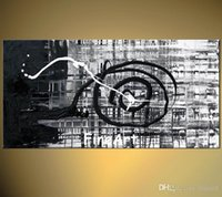 große schwarze weiße gemälde großhandel-100% handgemachte gute qualität große schwarze und weiße abstrakte kunst rabatt beste ölgemälde art deco gemälde verkauf moderne sofa set design