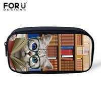 Wholesale kids cat makeup for sale - Group buy Make Up Bag Pouch Library Cat Dog Print Women Portable Cosmetic Case Storage Travel Makeup Bag Kids Girl Pencil Case