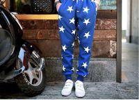 pantalones jogger estrellas al por mayor-Fashion Star Printing Mens Joggers Moda Hip Hop Dance Pantalones sueltos Pantalones activos Ropa de diseñador para hombre Talla M-2XL