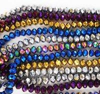 glas schneiden großhandel-3MM 145 Stück / Los Bicone Kristall Perlen schneiden facettierten runden Glasperlen