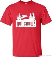 ropa de nieve al por mayor-Adulto Got Snow Funny Snowmobile Lover Camiseta Summer Casual Clothing 2017 Última moda