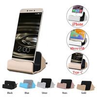 mikro usb beşiği toptan satış-USB 3.1 Tip-C Dock İstasyonu Şarj Cradle Samsung / iPhone / Mikro Xiaomi 5 4c Huawei P10 P9 Artı Oneplus 3 Dock Şarj