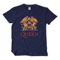 königin sterne großhandel-2017 neue ankunft Königin Rock t-shirts Freddie Mercury 5 sterne qualität t-stücke große yard kurzarm t-shirt EU.size casual fit tops