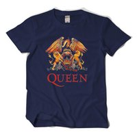 rock star t shirt venda por atacado-2017 new arriveal Queen Rock camisetas Freddie Mercury 5 estrelas tees de qualidade grande estaleiro de manga curta t-shirt EU. Tamanho casual fit tops