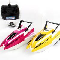 bateaux électriques pour les enfants achat en gros de-RC Bateaux Bande Dessinée Radio Télécommande Vitesse Électrique Eau Jouet Bateau Yacht Pour Enfants En Plein Air Jouets 25 8ae UU