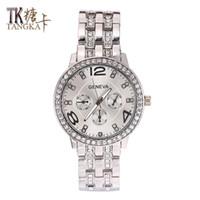 vente de montres en cristal achat en gros de-2017 Vente Chaude De Mode Montres Pour Femmes classique Tour Cristal Quartz Montre en acier inoxydable horloge hommes poignet montres Porter des bijoux