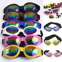 Wholesale dog sunglasses online - Fashion Dog Glasses Foldable Sunglasses Medium Large Dog Glasses Big Pet Waterproof Eyewear Protection Goggles UV Sunglasses HH7
