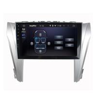 radio dvd para camry toyota al por mayor-Reproductor de DVD del coche para Toyota Camry 2014-2015 10.1 pulgadas 2 GB RAM Andriod 6.0 con GPS, control del volante, Bluetooth, radio