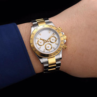 Wholesale Christmas Folders - New listing high-quality AAA + luxury brand watch TONA high quality Asian 2836 automatic mechanical folder gold stainless steel strap watch