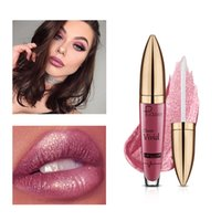 Wholesale glittered lips - Matte to Glitter Liquid lipstick Metallic Lip Gloss Waterproof Lip Makeup 18 Color Pudaier Glitter Lipgloss Diamond Glittering Lipstick Flip