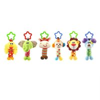 детские развивающие игрушки оптовых-Quality Plush Toys Bed Baby Mobile Hanging Baby Rattles Toy Giraffe With Bell Ring Infant Teether Toys Gift