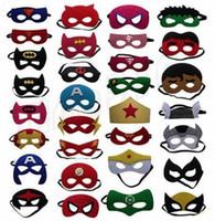 olhos dos desenhos animados para o traje venda por atacado-New superhero crianças dos desenhos animados máscaras de halloween máscara de natal capitão américa trajes do partido wolverine máscara para crianças gc84