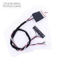 kablolar toptan satış-LED LCD 40pin single6 1ch 6-bit LVDS kablo 300mm 0.4mm Pin Pitch için Özel HV121 / HV133 / HX121 / N089L6-L01
