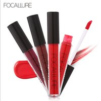 Wholesale new painting sexy resale online - New arrival colors FOCALLURE Liquid Lipstick Hot Sexy Colors Lip Paint Matte Lipstick Waterproof Long Lasting Lip Gloss