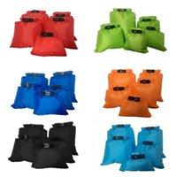 almacenamiento de abrigo al por mayor-7 colores 5 unids / set bolsa de almacenamiento en seco a prueba de agua bolsa de almacenamiento de tela de silicona rafting canotaje canotaje bolsa seca CCA10373 30set