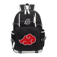 ingrosso sacchetto di spalla cosplay-Anime Naruto Akatsuki Red Cloud Zaino Scuola Borsa a spalla Zaino Collezione Cosplay