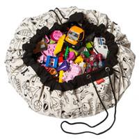 esteiras de aprendizagem venda por atacado-Diy doodling mat crianças aprendem pintura cor brinquedos sacos de armazenamento dos desenhos animados breve padrão designer multifuncional crianças organizador do divertimento 48jy zz