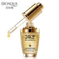 crema facial nueva para blanquear al por mayor-BIOAQUA 24K Gold Face Cream Blanqueamiento Hidratante 24 K Gold Day Creams Hidratantes 24K Gold Essence Serum Nuevo rostro Cuidado de la piel