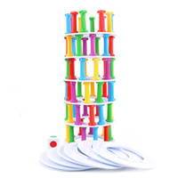 Wholesale new kids board games - Tower Collapse Game Fun Suck Board Punishment Children Kid Intelligence Developmental Puzzle Stick Toys New Interesting Education Toy 17db V