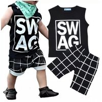 Wholesale sleeveless tops baby boy for sale - Boys Ins Clothing Sets Baby Fashion Suits Infant Casual Outfits Kids Ins Tops Shorts T B11