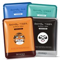 tiger tiere maske großhandel-BIOAQUA Tiger Panda Schäferhundform Tiergesichtsmaske Feuchtigkeitsspendende Ölkontrolle Feuchtigkeitsspendende pflegende Gesichtsmasken