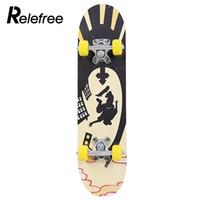 tablas de skate completos al por mayor-Monopatín de cubierta Skateboard completo Skateboard Populares de madera de arce Polea Rueda Longboard Deportes extremos