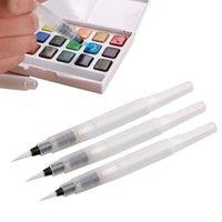 tintenfeder kunst großhandel-Unterschiedliche Größe nachfüllbare Stifte Farbstifte Tinte Stift Tinte weiche Aquarell Pinsel Pinsel Kunstbedarf