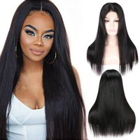 Wholesale Beauty On Line Straight Human Hair Wigs Pre Plucked Peruvian Virgin Hair Lace Frontal Wig Lace Front Human Hair Wig U Part Wig