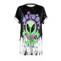 punk ropa de talla grande mujer al por mayor-O-cuello Nueva Anti-Social 3d Camiseta de impresión Goth Gang Harajuku Punk T -Camisa Estilo de verano Ropa Tops Tallas grandes Dropship Mujeres